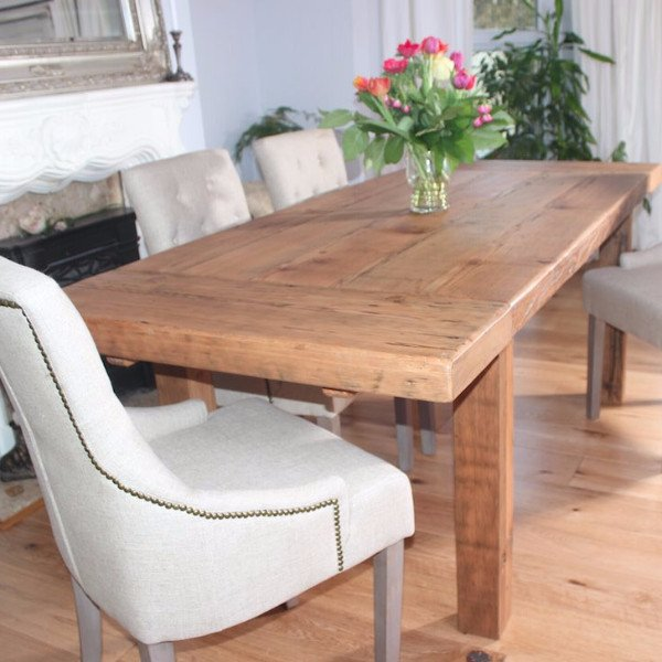 Moss Rustic Extendable Reclaimed Wood Dining Table