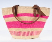 The Basket Room x Jigsaw Handwoven Tote: Pink