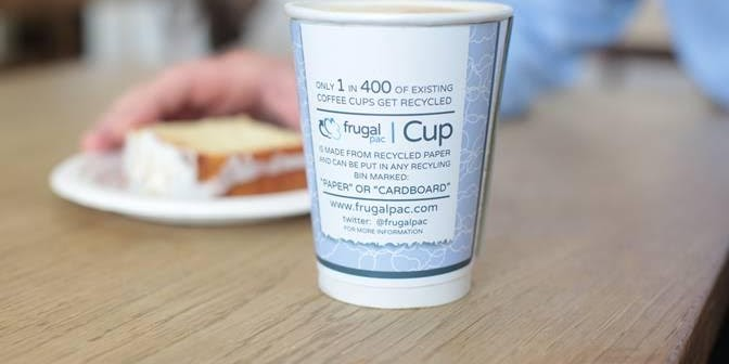 Frugalpac – the invention that could end the storm in a coffee cup!