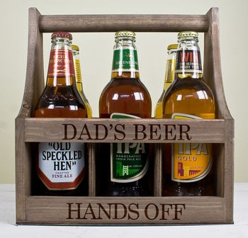 Personalised Wooden Beer Trug – Christmas Gift for Dads