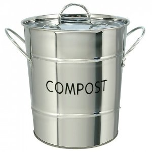 EDDINGTONS STAINLESS STEEL KITCHEN COMPOST PAIL