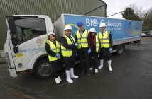 Paul Killoughery MD of Bio Collectors' in Mitcham Surrey, with MP's from the EFRA Select Committee