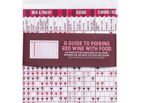 red wine tea towel