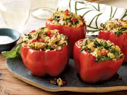 Veganuary – Stuffed Peppers with Thai Curry Rice and Mushrooms