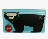 3 Sprouts Reusable Snack Bag – Bear