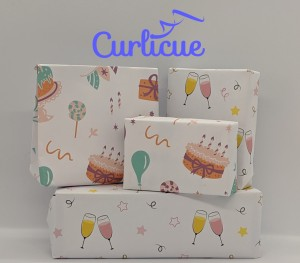 Curlicue launches Happy Birthday and Celebrate wrapping paper prints