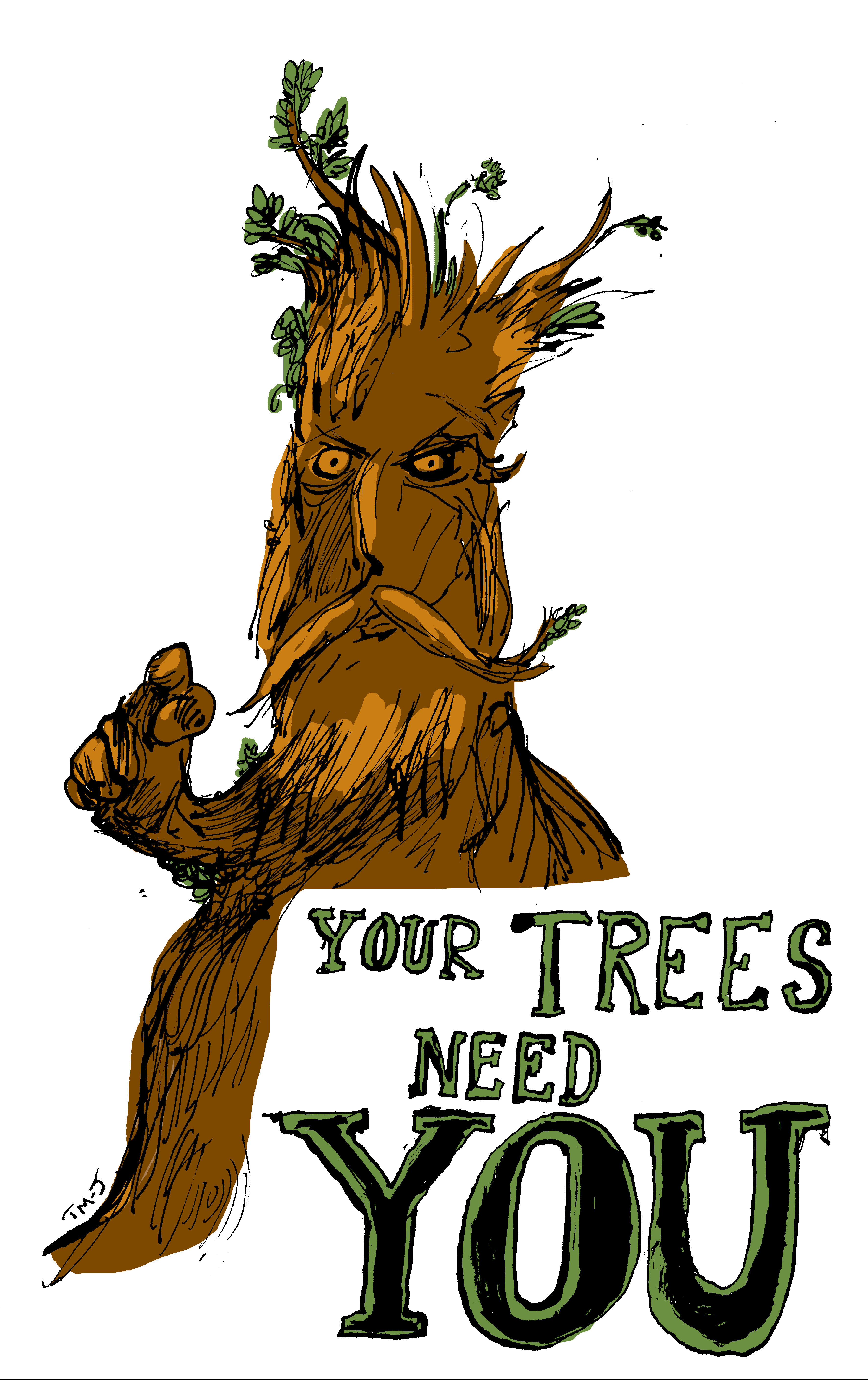 YOUR TREES NEED YOU - Tom Morgan Jones