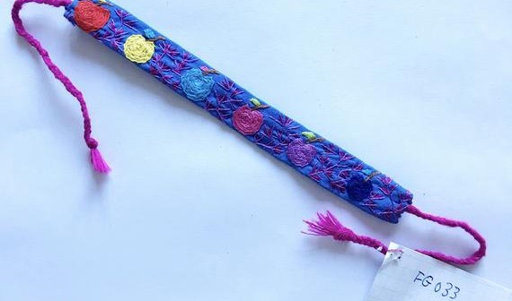 Handmade embroidery friendship bracelet